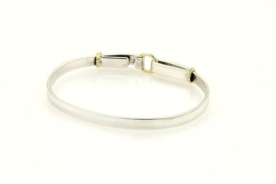 Tiffany & Co. Sterling Silver 18k Yellow Gold Double Loop Hook Bangle Image 3