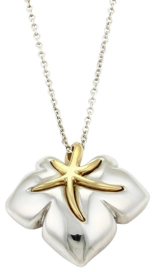 Preload https://img-static.tradesy.com/item/25768029/tiffany-and-co-61094-clasic-1991-ivy-sterling-18k-ygold-starfish-leaf-pendant-chain-necklace-0-1-540-540.jpg
