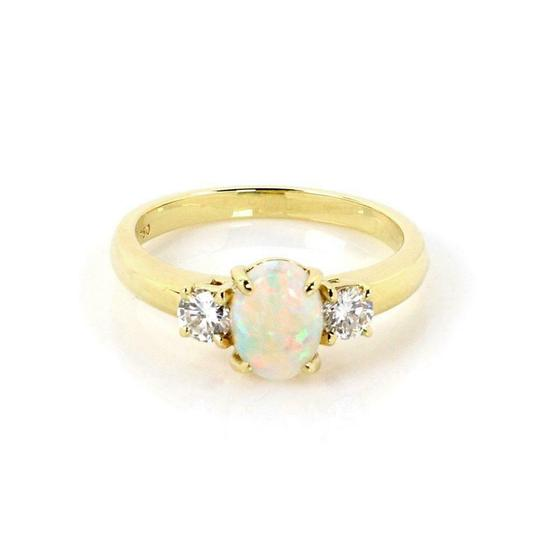 Preload https://img-static.tradesy.com/item/25768050/tiffany-and-co-61076-classic-132ct-opal-diamond-18k-yellow-gold-cocktail-size-6-ring-0-0-540-540.jpg