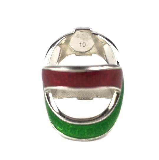Gucci NEW GUCCI Garden Sterling Silver and Enamel Ring Sz. 6-3/4 US Image 5