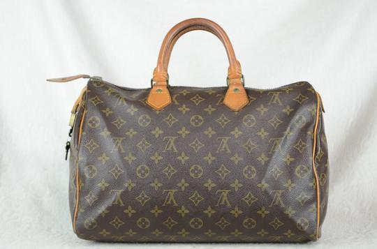 Louis Vuitton Speedy 35 Tote in Brown Image 4