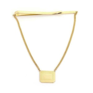Tiffany & Co. Ralph Lauren 18k Yellow Gold Tie Clip Dangling Chain & Charm