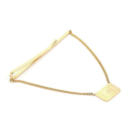 Tiffany & Co. Ralph Lauren 18k Yellow Gold Tie Clip Dangling Chain & Charm Image 1
