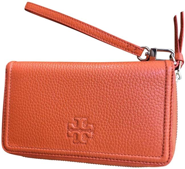 Tory Burch Thea Black Friday Sale Up To Iphone Xsmax Smartphone Orange Leather Wristlet Tradesy