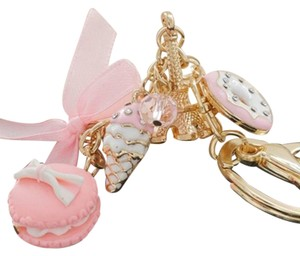 Other Hot Pink Macaroon and Eiffel Tower Purse Charm
