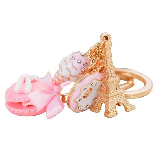 Other Hot Pink Macaroon and Eiffel Tower Purse Charm Image 1