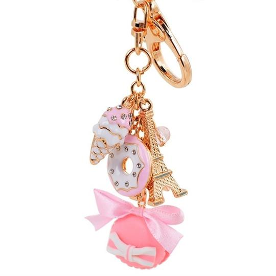 Other Hot Pink Macaroon and Eiffel Tower Purse Charm Image 2