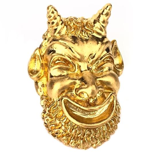 Gucci NEW GUCCI Mask of Silenus Metal Ring, Gold, Size Medium Image 1