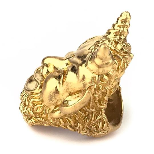 Gucci NEW GUCCI Mask of Silenus Metal Ring, Gold, Size Medium Image 3