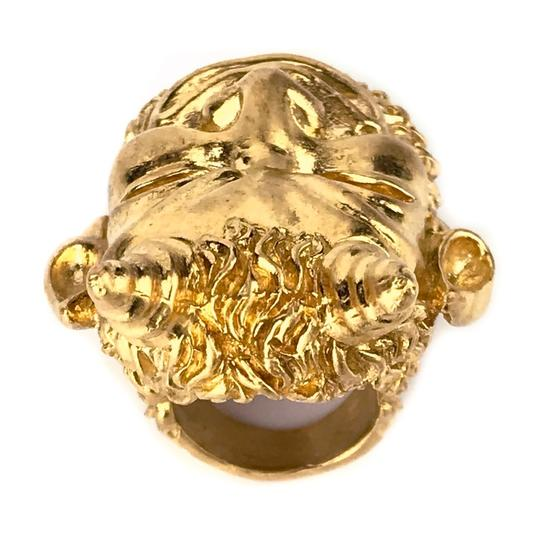 Gucci NEW GUCCI Mask of Silenus Metal Ring, Gold, Size Medium Image 5
