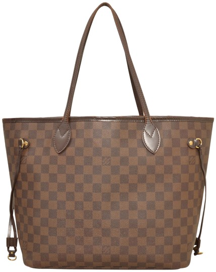 Louis Vuitton Shopper Shoulder Neverfull Damier Ebene Tote in Brown Image 0