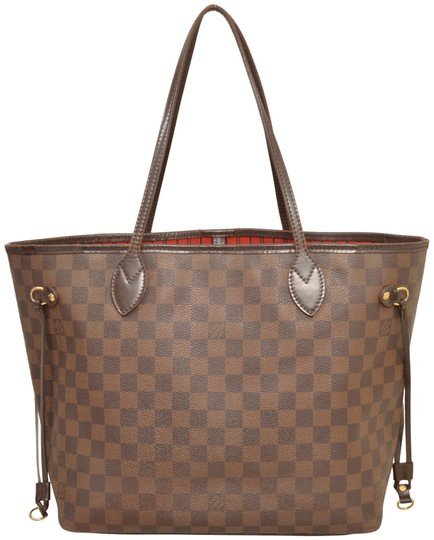 Louis Vuitton Shopper Shoulder Neverfull Damier Ebene Tote in Brown Image 1