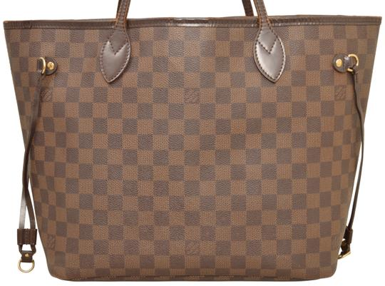 Louis Vuitton Shopper Shoulder Neverfull Damier Ebene Tote in Brown Image 2