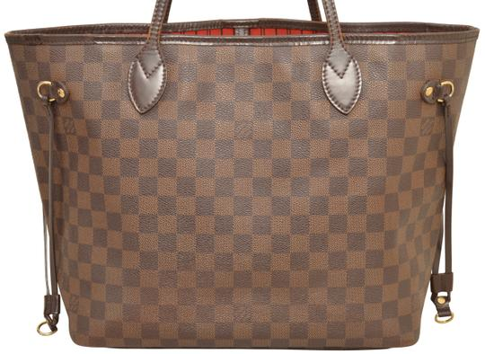 Louis Vuitton Shopper Shoulder Neverfull Damier Ebene Tote in Brown Image 3