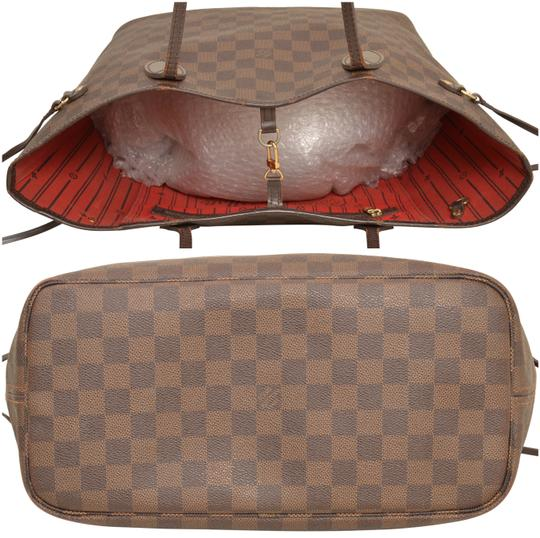 Louis Vuitton Shopper Shoulder Neverfull Damier Ebene Tote in Brown Image 4