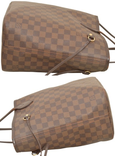 Louis Vuitton Shopper Shoulder Neverfull Damier Ebene Tote in Brown Image 5