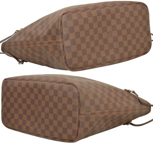 Louis Vuitton Shopper Shoulder Neverfull Damier Ebene Tote in Brown Image 6