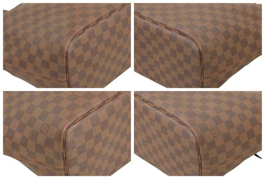Louis Vuitton Shopper Shoulder Neverfull Damier Ebene Tote in Brown Image 7