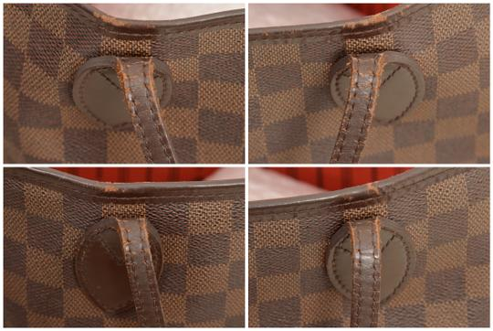 Louis Vuitton Shopper Shoulder Neverfull Damier Ebene Tote in Brown Image 8