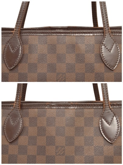 Louis Vuitton Shopper Shoulder Neverfull Damier Ebene Tote in Brown Image 9
