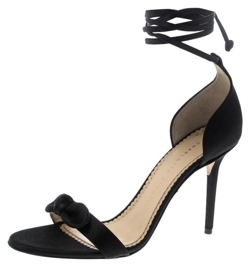 Preload https://img-static.tradesy.com/item/25768137/charlotte-olympia-black-satin-shelley-bow-embellished-ankle-wrap-sandals-size-eu-385-approx-us-85-re-0-1-540-540.jpg