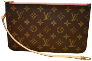 Louis Vuitton Lv Pochette Monogram Mono Shocking Pink Wristlet