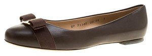 Salvatore Ferragamo Leather Ballet Brown Flats