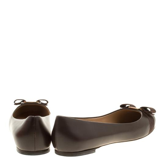 Salvatore Ferragamo Leather Ballet Brown Flats Image 2