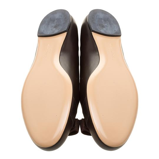 Salvatore Ferragamo Leather Ballet Brown Flats Image 3