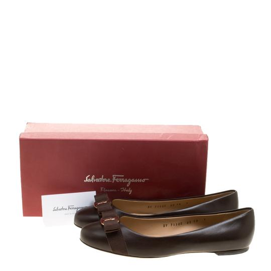 Salvatore Ferragamo Leather Ballet Brown Flats Image 8