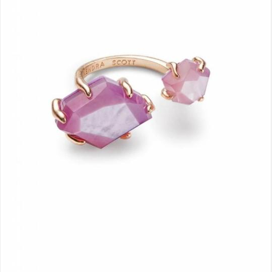 Kendra Scott Kendra Scott Lilac Mother of Pearl Rose Gold Kayla Adjustable Ring Image 1