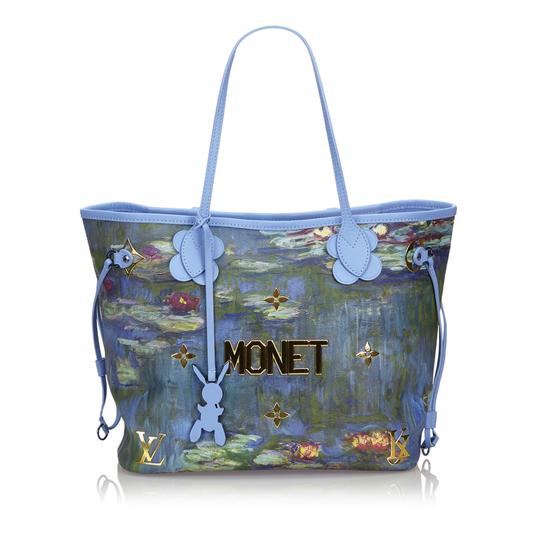 Preload https://img-static.tradesy.com/item/25768188/louis-vuitton-neverfull-w-2017-masters-collection-mm-monet-dust-pouch-blue-coated-canvas-leather-tot-0-0-540-540.jpg