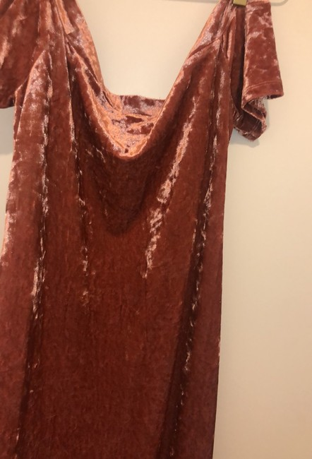 pink/rose velvet Maxi Dress by Urban Outfitters Image 1