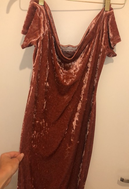 pink/rose velvet Maxi Dress by Urban Outfitters Image 3