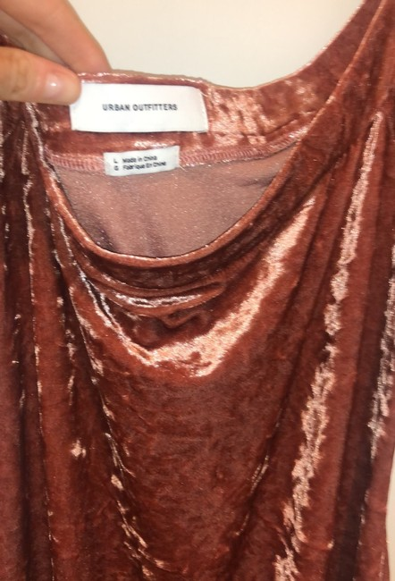 pink/rose velvet Maxi Dress by Urban Outfitters Image 4