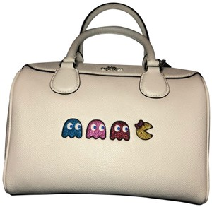 Coach Leather Pacman White Satchel in Chalk