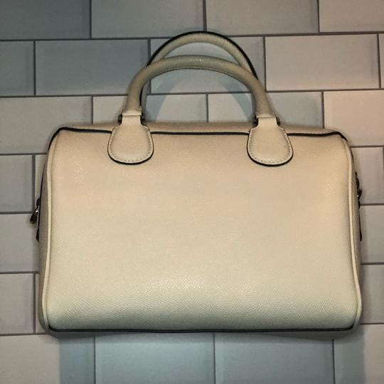 Coach Leather Pacman White Satchel in Chalk Image 1
