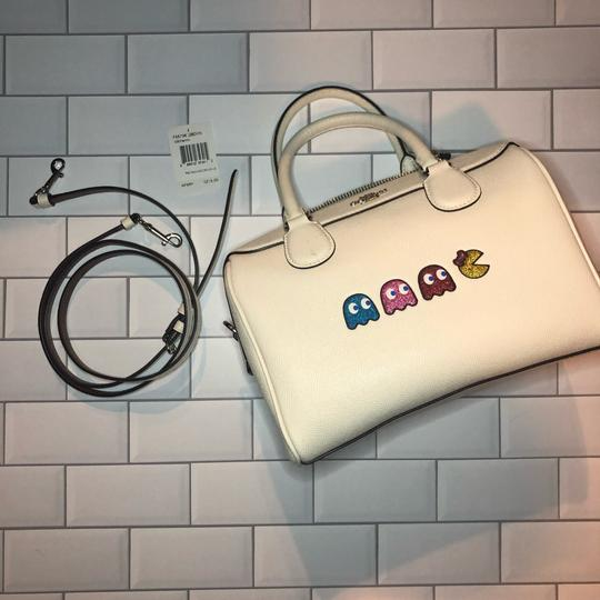Coach Leather Pacman White Satchel in Chalk Image 4