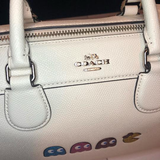 Coach Leather Pacman White Satchel in Chalk Image 7