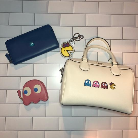 Coach Leather Pacman White Satchel in Chalk Image 8