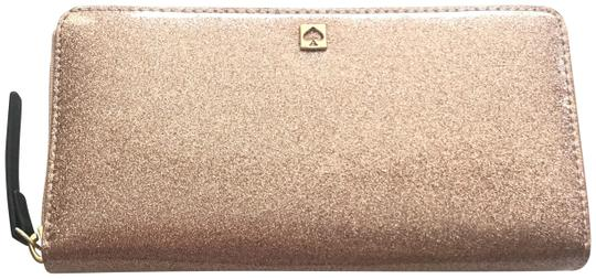 Preload https://img-static.tradesy.com/item/25768221/kate-spade-rose-gold-pink-new-york-glitter-big-lacey-wallet-0-2-540-540.jpg