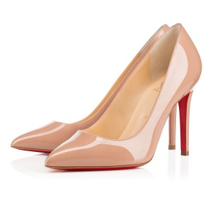Christian Louboutin Classic Office Heels 55mm Black beige Pumps