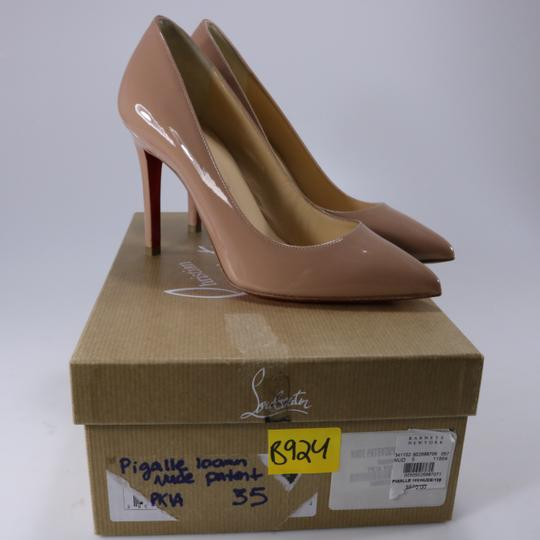 Christian Louboutin Classic Office Heels 55mm Black beige Pumps Image 1