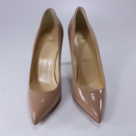 Christian Louboutin Classic Office Heels 55mm Black beige Pumps Image 10