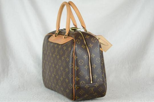 Louis Vuitton Deauville Monogram Tote in Brown Image 4