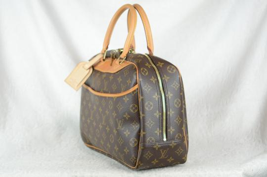 Louis Vuitton Deauville Monogram Tote in Brown Image 5