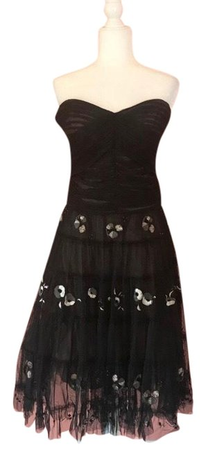 Preload https://img-static.tradesy.com/item/25768264/bcbgmaxazria-black-embroidered-tulle-mid-length-cocktail-dress-size-8-m-0-1-650-650.jpg