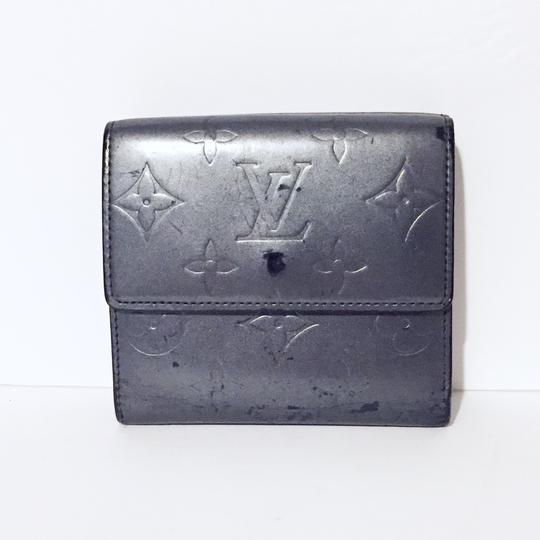 Louis Vuitton LV gray vernis leather snap button wallet Image 1