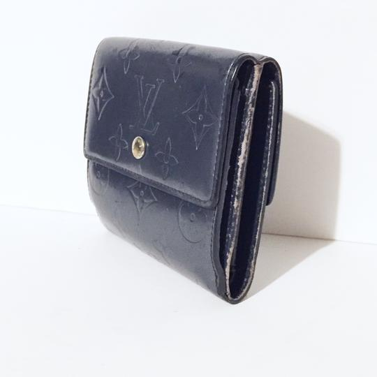 Louis Vuitton LV gray vernis leather snap button wallet Image 2