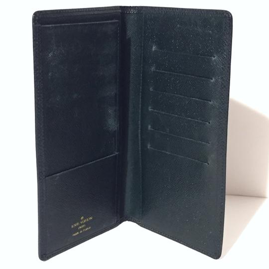 Louis Vuitton LV Porte green taiga leather long bifold wallet Image 2